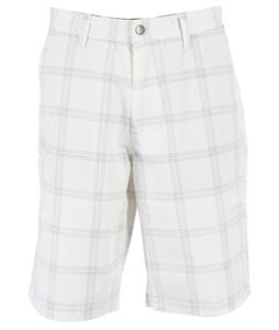 Volcom Frickin Plaid Chino Shorts White