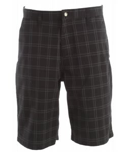 Volcom Frickin Plaid Chino Shorts Black