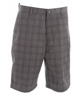 Volcom Frickin Plaid Chino Shorts Charcoal Heather