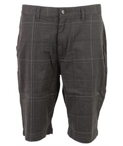 Volcom Frickin Plaid Strech Shorts Charcoal Heather