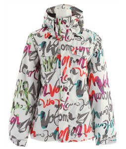 Volcom Genera Insulated Snowboard Jacket Script Stripe White