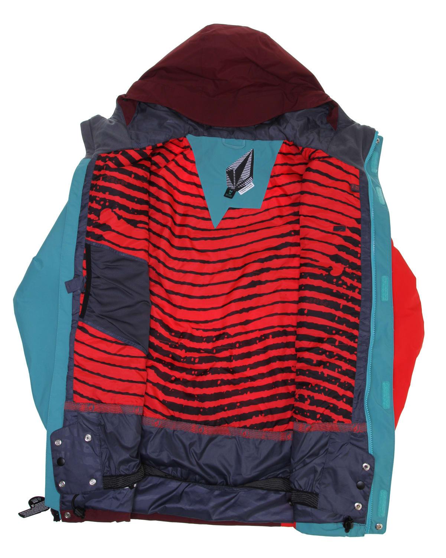 Volcom Getty Snowboard Jacket Maroon Mens