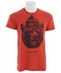 Volcom Grizzly T-Shirt Orange Red Heather