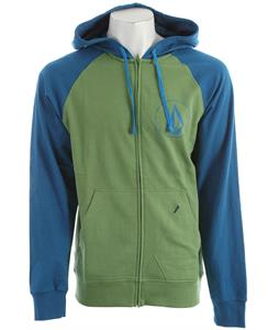 Volcom Half Stone Icon Hoodie Electric Green Heather