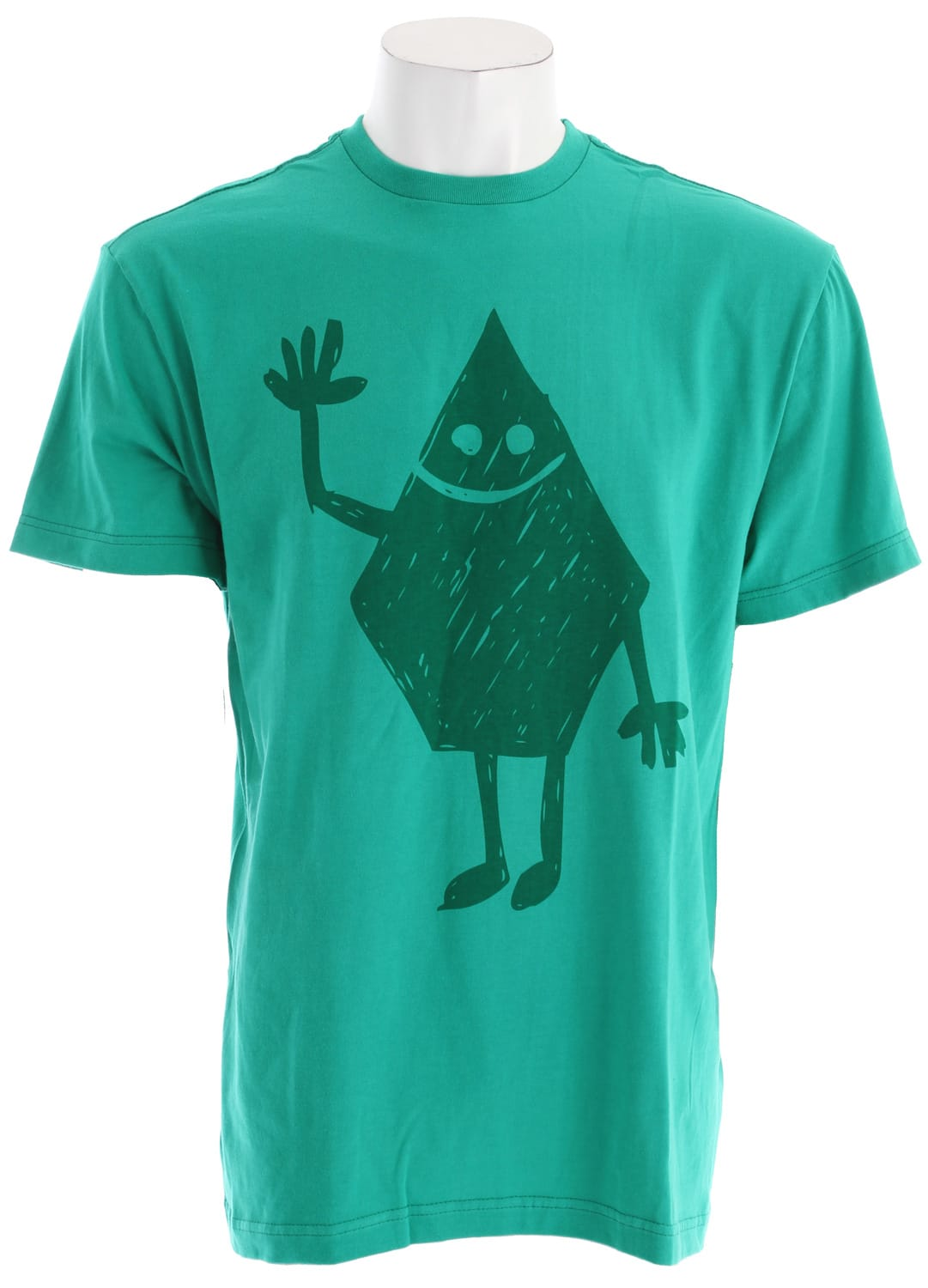 Shop for Volcom Hey Stone T-Shirt Emerald Green - Men's
