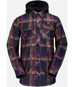 Volcom Hood Flannel Snowboard Jacket Black