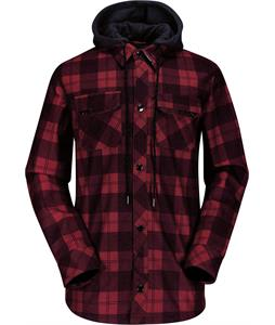 Volcom Hood Flannel Jacket Red