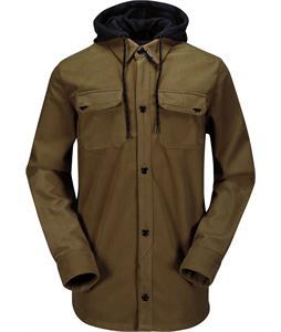 Volcom Hood Flannel Jacket Teak
