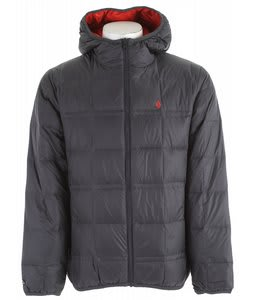 Volcom Hooded Puff Puff Jacket Ebony