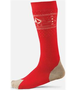 Volcom V-CO Jacquard Socks Red