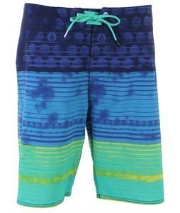 Volcom Lido Stripe Boardshorts Cosmic Blue