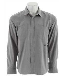 Volcom Lodger Chambray L/S Shirt Grey Vintage