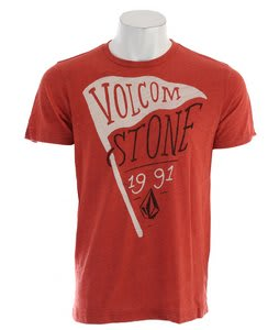 Volcom Los Stoney T-Shirt Orange Red Heather