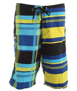 Volcom Maguro Half Plaid Boardshorts Marina Blue