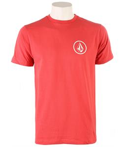 Volcom Mini Circle Stone T-Shirt Red