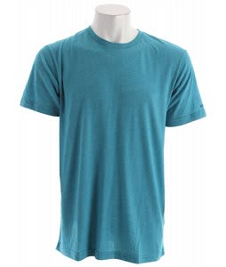 Volcom Mock Twist T-Shirt Bright Turquoise Heather