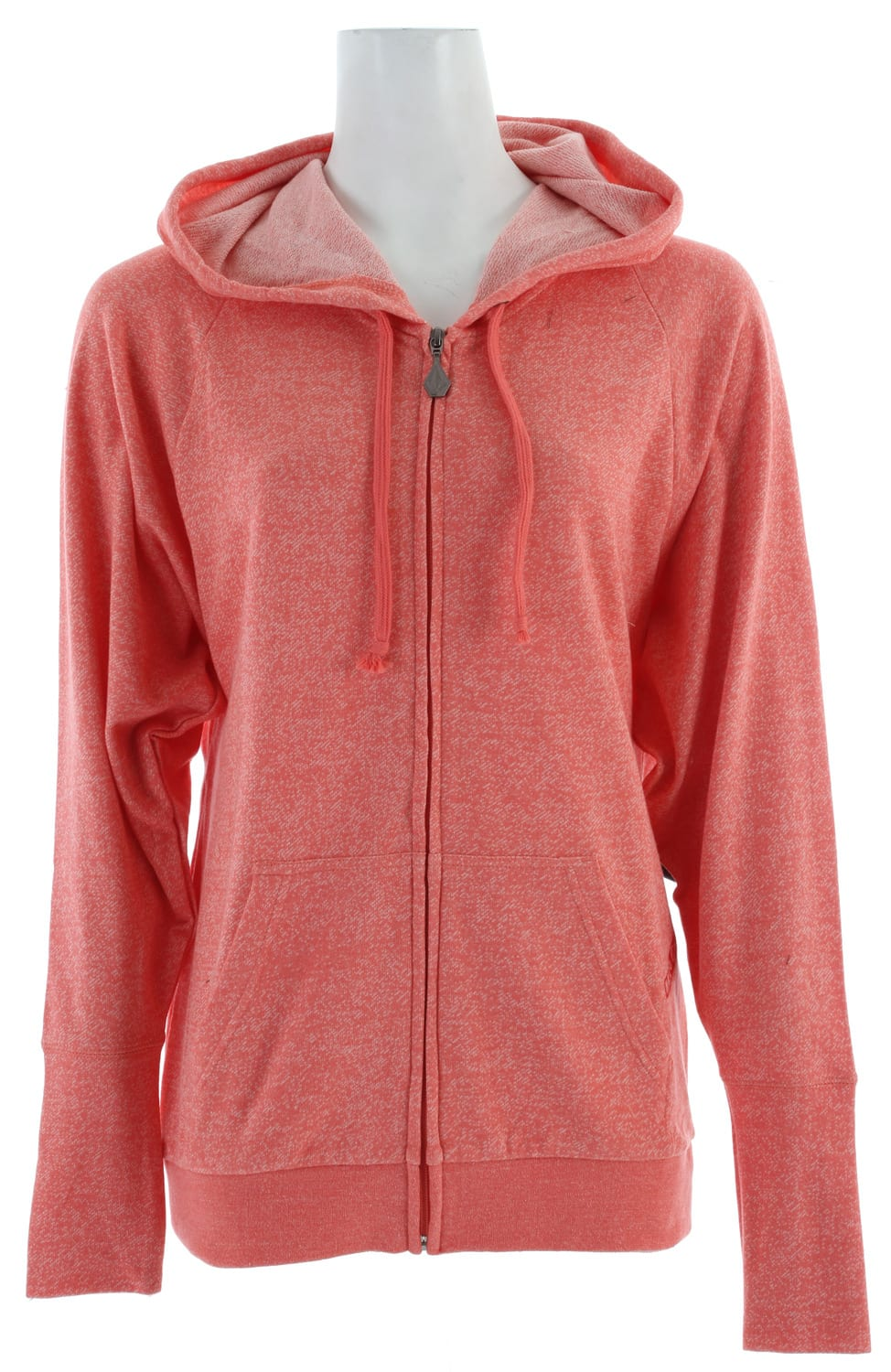 Shop for Volcom Moclov Stoner Zip Hoodie Coral Sorbet - Women's