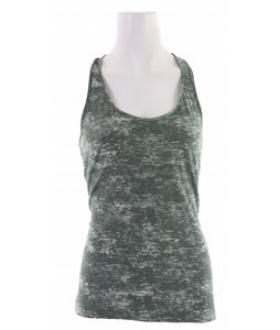 Volcom Moclov Twist Back Tank Top Myrtle Green Heather