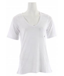 Volcom Moclov Pocket V-Neck T-Shirt White