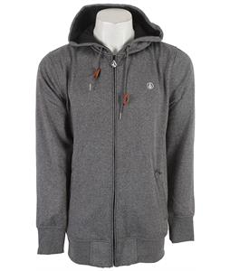 Volcom Mod Zip Up Hoodie Heather Black