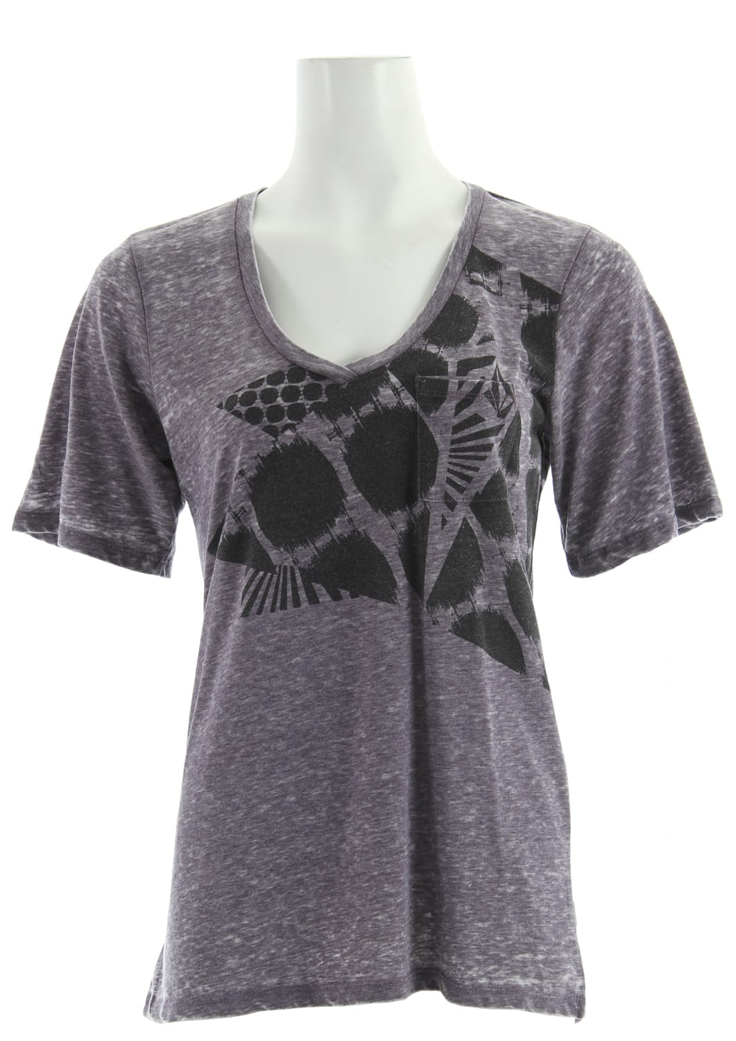 Shop for Volcom Moddayze Pocket T-Shirt Gothic Grape Heather - Women's