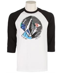 Volcom Oblivionated V T-Shirt White/Black