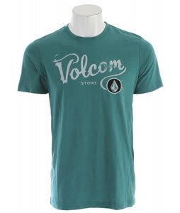Volcom Occidental T-Shirt Blue Green Heather