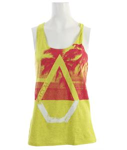 Volcom Palm Pipe Knot Back Tank Acid Yellow