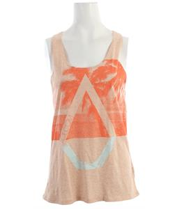 Volcom Palm Pipe Knot Back Tank Bellini Peach