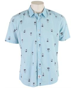 Volcom Peace Palm Shirt Light Blue