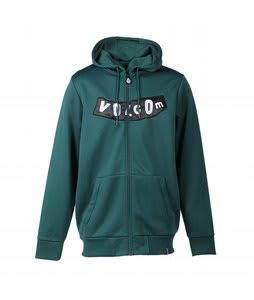 Volcom Pistol Hydro Fleece Hoodie Dark Green