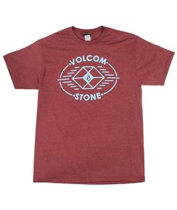 Volcom Poly Stone T-Shirt Burgundy Heather