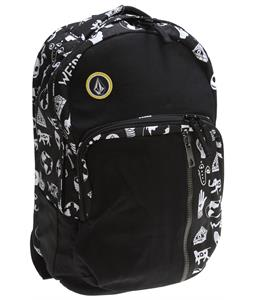 Volcom Prohibit Canvas Backpack Black White 22L