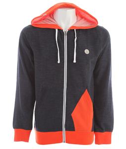 Volcom Ridgewood Hooded Zip Up Hoodie Dark Navy