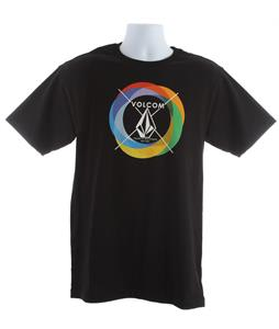 Volcom Round Rainbow T-Shirt Black