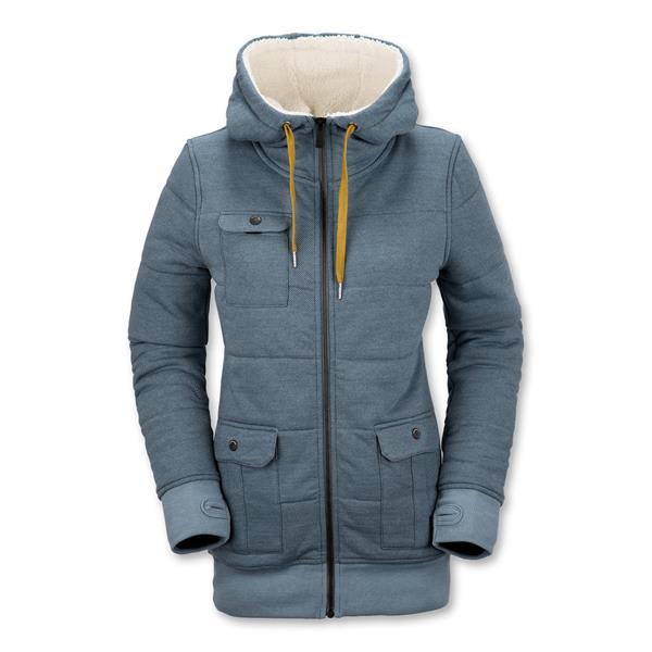 Volcom Single Hoodie - heather blue black - Men s Clothing > Hoodies