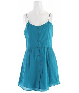Volcom Shadow Striper Dress Vibrant Turquoise
