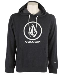 Volcom Single Pullover Hoodie Heather Blue Black