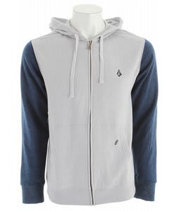 Volcom Slapdit Slim Hoodie Heather Grey Marled