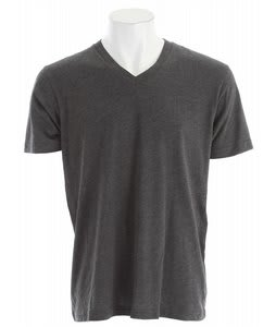 Volcom Solid Heather Too V-Neck T-Shirt Heather Black