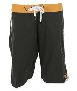 Volcom Solid Scallop 20in Boardshorts Black