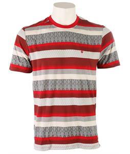 Volcom Splinter Crew T-Shirt Burgundy