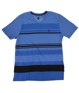 Volcom Split Stripe Vneck T-Shirt True Blue
