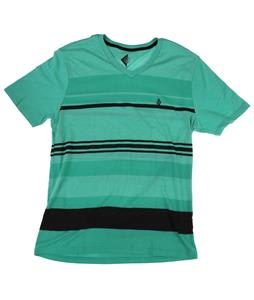 Volcom Split Stripe Vneck T-Shirt Kelly Green