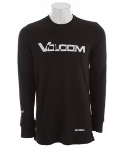 Volcom Stock Hunter Riding Crew Baselayer Top Black