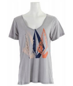 Volcom Stonecil Boyfriend V T-Shirt Heather Grey