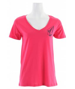 Volcom Stone Cool Boyfriend V-Neck T-Shirt Flamingo Pink