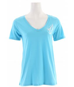 Volcom Stone Cool Boyfriend V-Neck T-Shirt River Blue