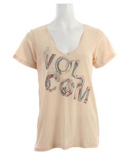 Volcom Tangoline Boyfriend V T-Shirt Bellini Peach