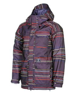 Volcom Tarik Insulated Snowboard Jacket Black Stripe